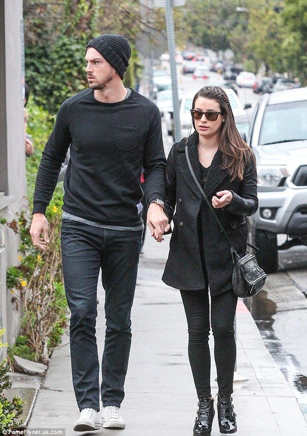 Lea Michele holds hands with boyfriend Matthew Paetz during casual lunch date | Daily Mail Online