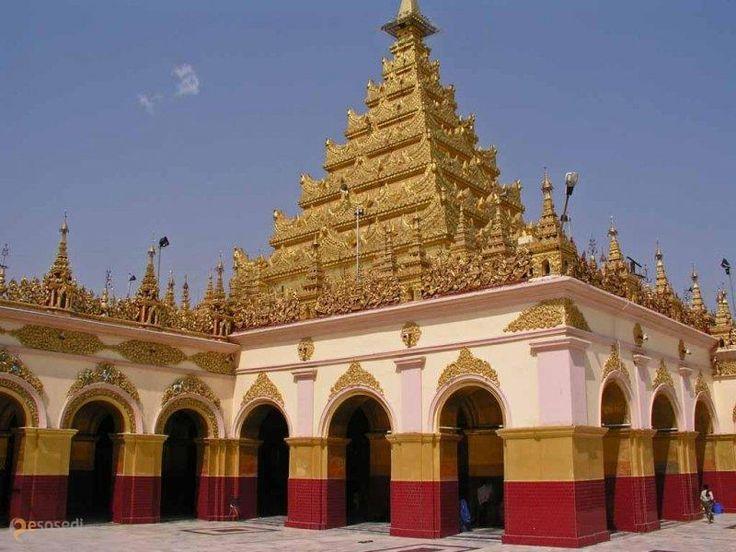 Большая пагода Махамуни – #Мьянма #Округ_Мандалай #Мандалай (#MM_04) Красивая пагода со старинной статуей Будды, которого паломники покрывают листочками сусального золота  ↳ http://ru.esosedi.org/MM/04/1000478471/bolshaya_pagoda_mahamuni/