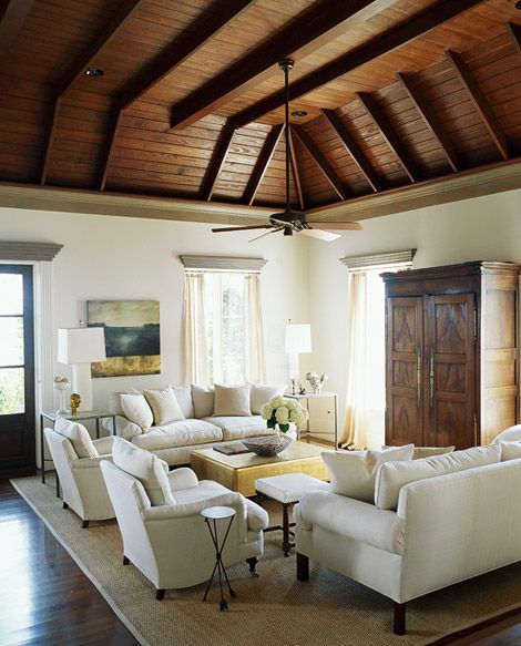 White Living Spaces: 27 Best Vaulted Ceiling Images On Pinterest
