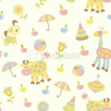Seamless baby background Royalty Free Stock Vector Art Illustration