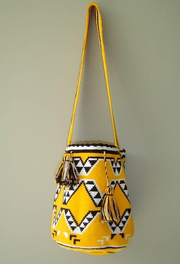 Fair Trade Wayuu Mochila Bag. Site is for purchase of bags