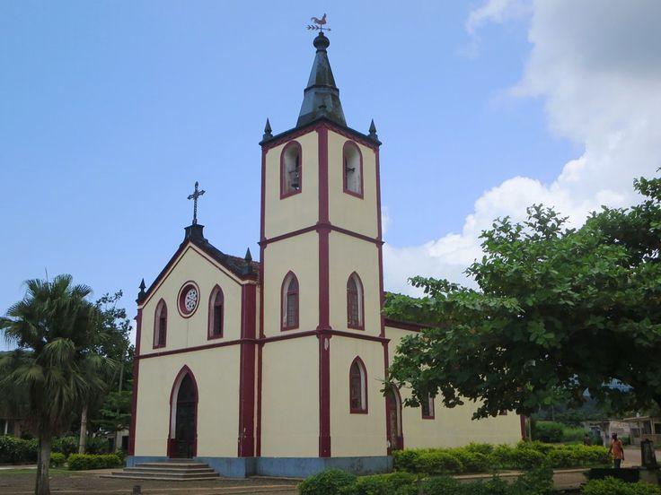 The Igreja Nossa Senhora da Conceicao in Santo Antonio on Principe Island, São Tomé and Príncipe, was restored in 1940.
