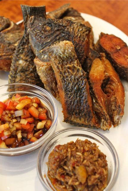 Pritong Tilapia with home made bagoong