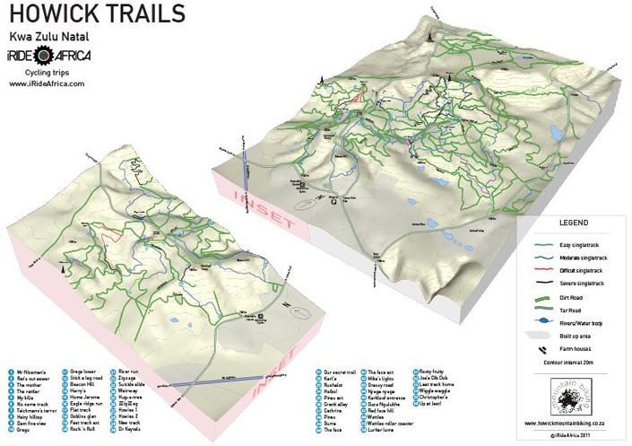 Unique mountain biking maps