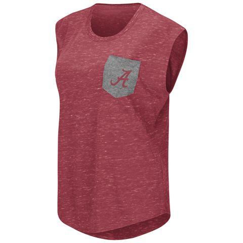 NCAA Alabama Crimson Tide Ladies Crimson Pocket Tee