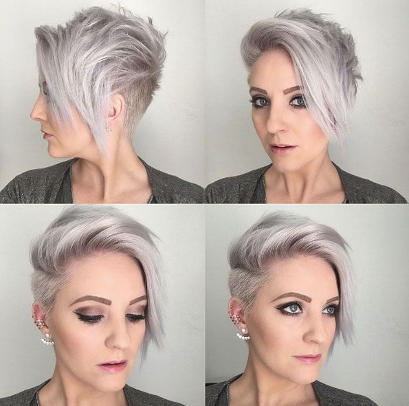 Longer side bangs by Emily Anderson