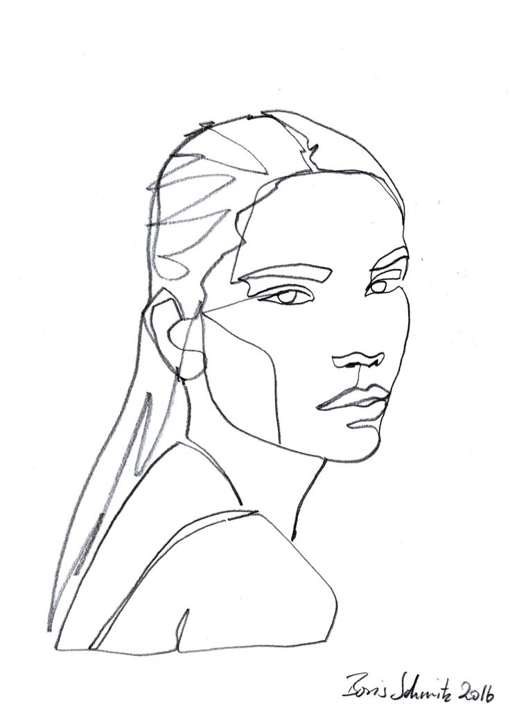 Line Drawing Of Face : Woman face line drawing pixshark images