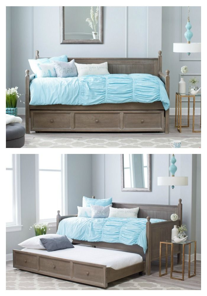 This designer-inspired daybed features clean lines to function as daytime seating or comfortable nighttime sleeping. Use it in any bedroom or guest room with the optional trundle, which can be used for extra sleeping or storage space. This beautiful piece is exclusive to hayneedle.com