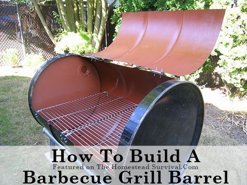 The Homestead Survival | How to Build a Barbecue Grill Barrel | homesteading & outdoor cooking