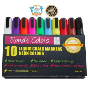 Fiona's Colors Liquid Chalk Markers, the daring book for girls, and exploding kittens.