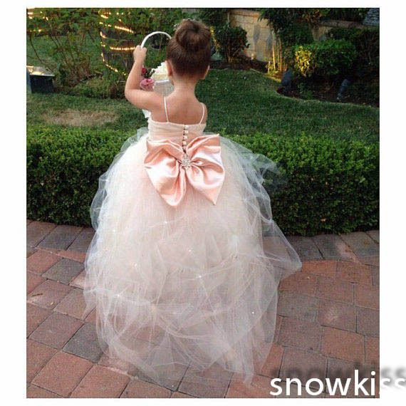 Cheap Flower Girl Dresses, Buy Directly from China Suppliers: Welcome to my store!!!   Dress can be made in custom size, color, design!      White/ivory cap sleeves ball gown puffy