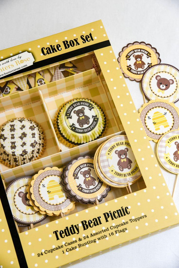 Teddy Bear Picnic cake box set by Hunters Rose