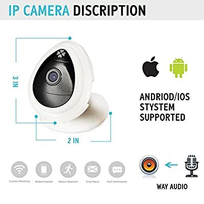 Security Cameras, Sokos Hd 720p IP Home Surveillance Cameras Wireless IP Camera Built in Microphone and One Key Wi-fi Configuration App by WPS/QSS Protocol (white)