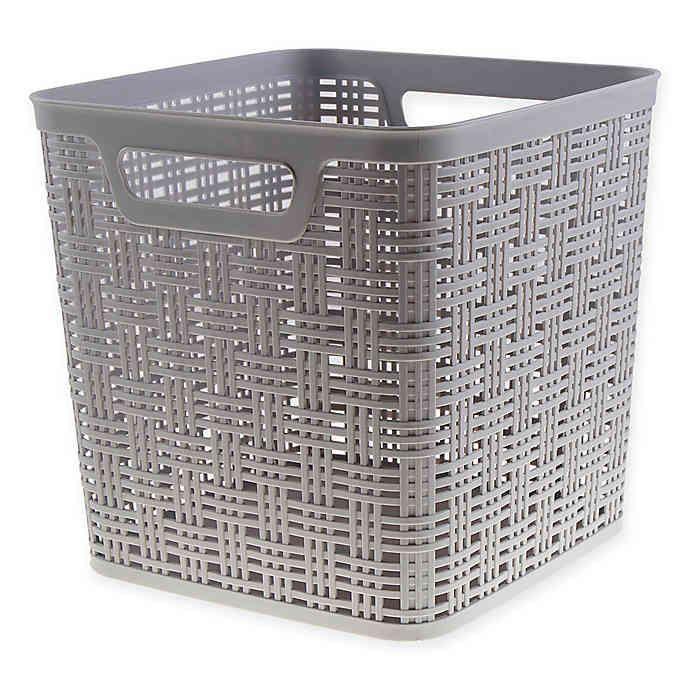 Starplast Plastic Wicker Storage Basket Collecton Wicker Baskets Storage Tall Storage Baskets Plastic Storage Cubes