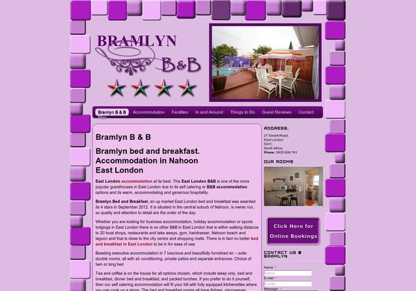 http://bramlynbnb.co.za   Bramlyn Bed and Breakfast, Nahoon, East London