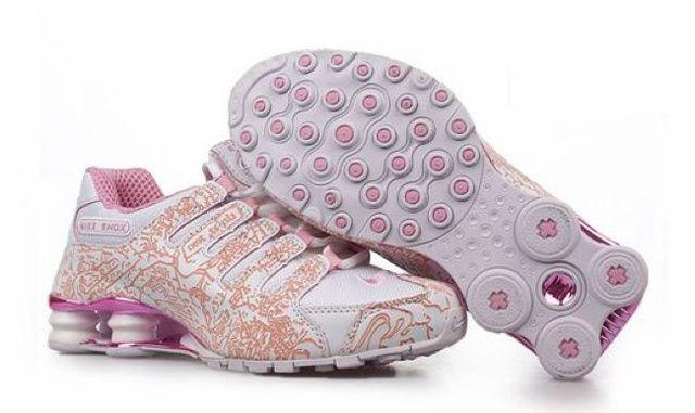 Nike Shox NZ Skor Vit Rosa Röd Kvinna 83341 Rea