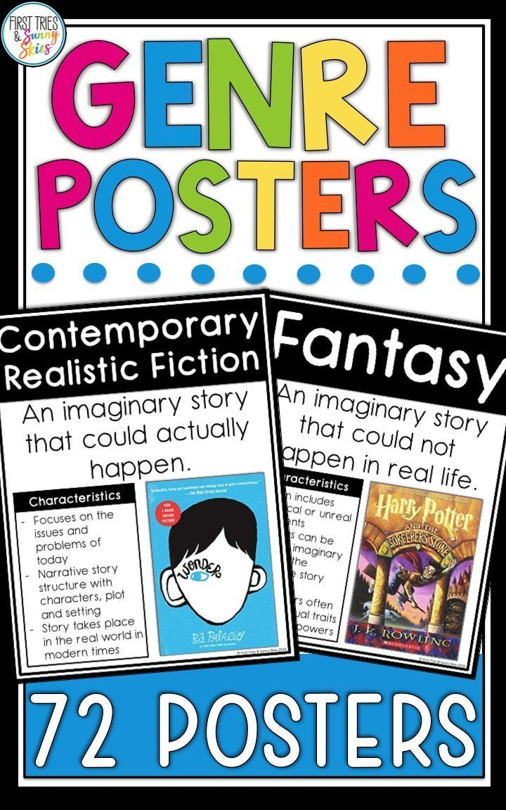 Literary Genres Posters Genre Posters Anchor Charts 72