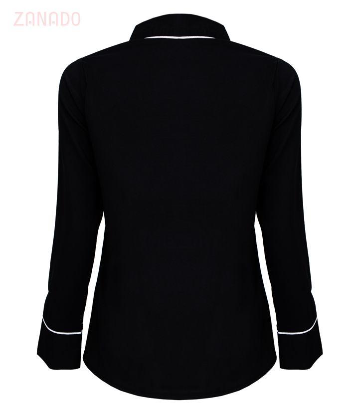 Áo kiểu nữ phối viền thời trang - 3