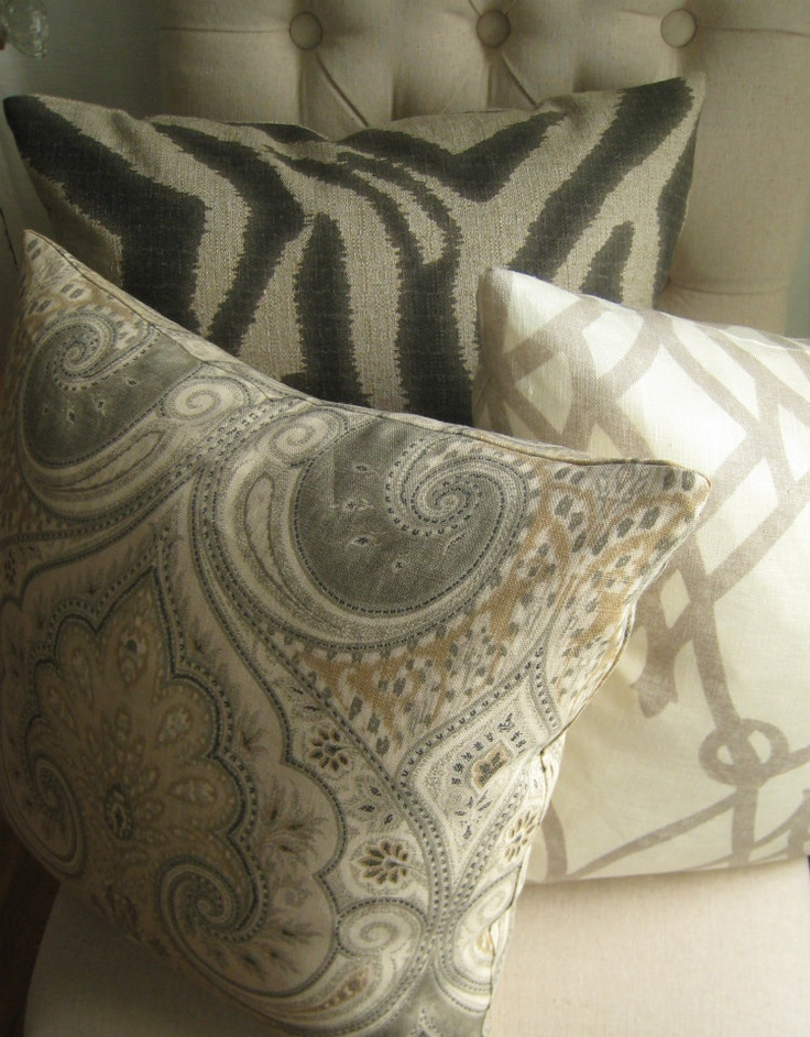 Other Throw Pillows To Match My Existing Latika Limestone Throw Pillows...  Zebra Ikat