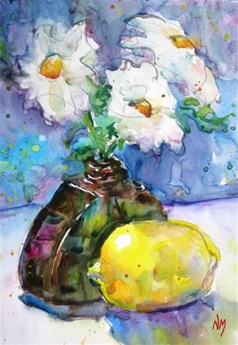 """Daily+Paintworks+-+""""glowing+idea""""+-+Original+Fine+Art+for+Sale+-+©+Nora+MacPhail"""