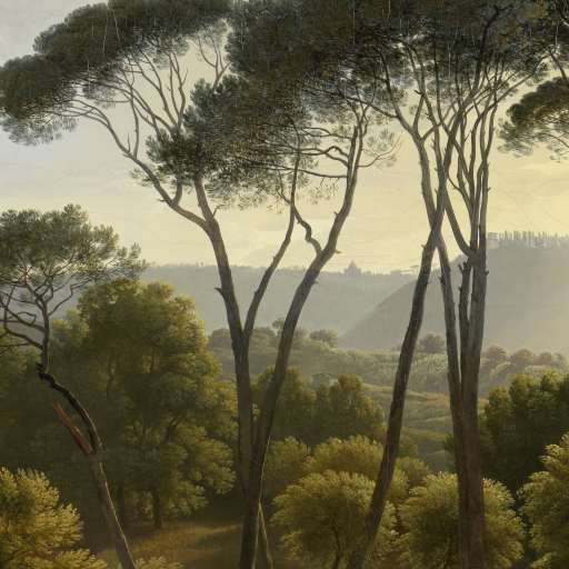 Italian Landscape with Umbrella Pines, Hendrik Voogd, 1807 - Search - Rijksmuseum