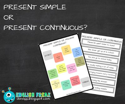 English Freak | Blog o nauczaniu języków obcych: PRESENT SIMPLE OR PRESENT CONTINUOUS? - FIND THE M...