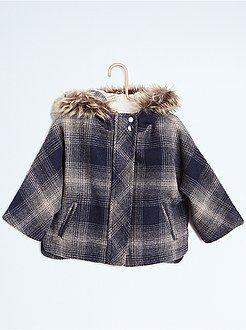 Abrigos, cazadoras - Capa aspecto lana con forro de borrego - Kiabi