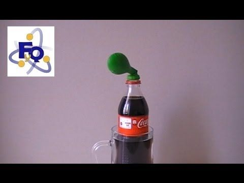 Inflar un globo con coca cola - YouTube