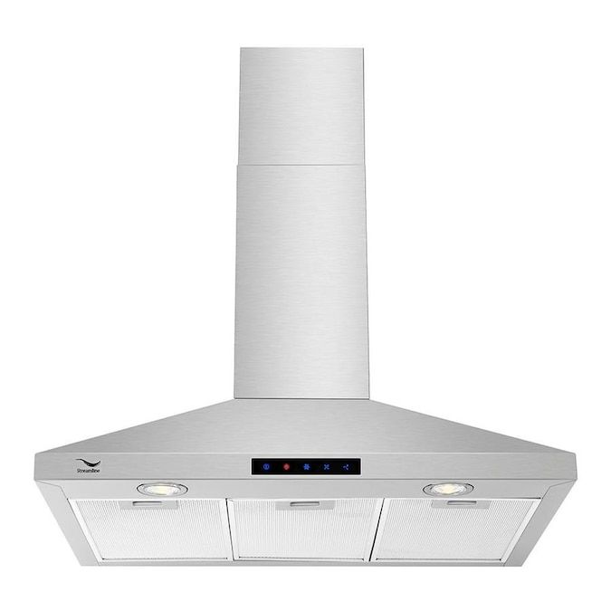Streamline Convertible Stainless Steel Wall Mounted Range Hood Common 30 In Actual 29 5 In Lowes Com Kitchen Range Hood Range Hood Stainless Range Hood