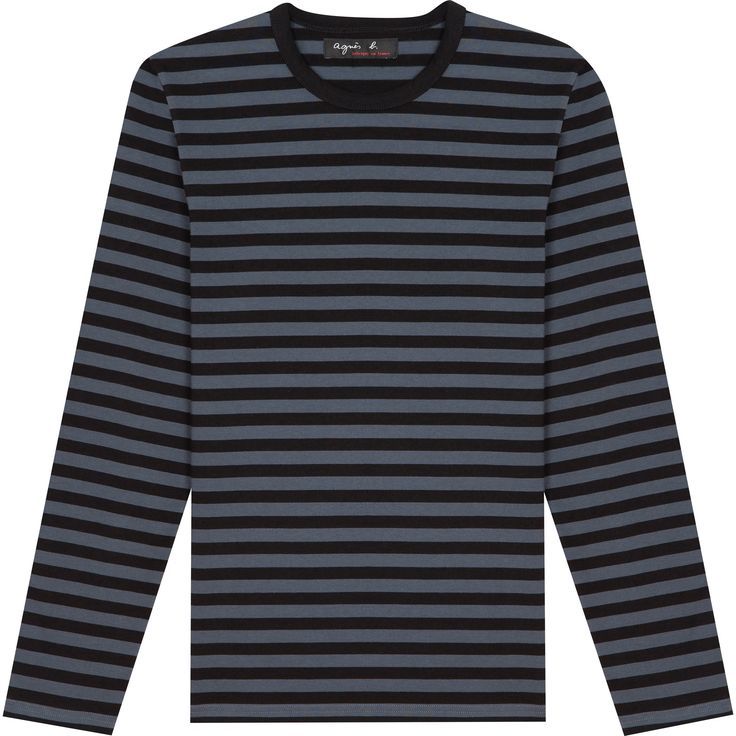 T-shirt rayé noir fonte