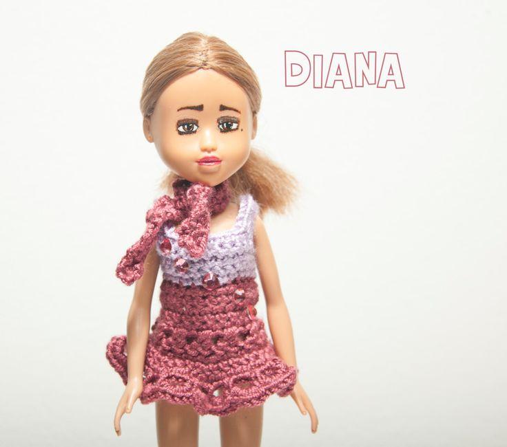 Upcycled doll Diana - handmade custom doll, OOAK doll, makeunder dolls, upcycled unique doll, OOAK, doll, makeunder doll, repainted doll by Theordinarydiary on Etsy