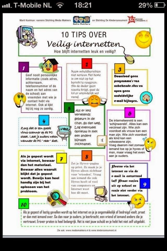 Onderwijs en zo voort ........: 0704. Tien tips voor veilig internetebruik.