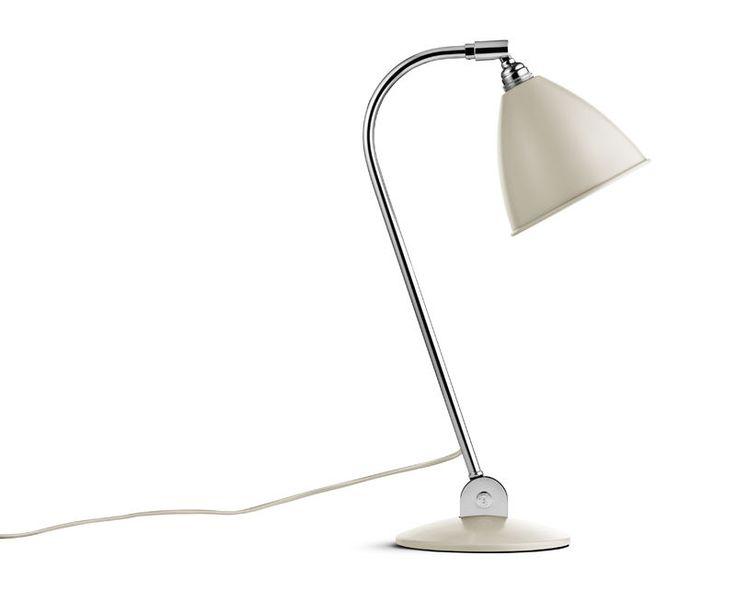 GUBI // Bestlite BL2 Table Lamp in off-white/chrome
