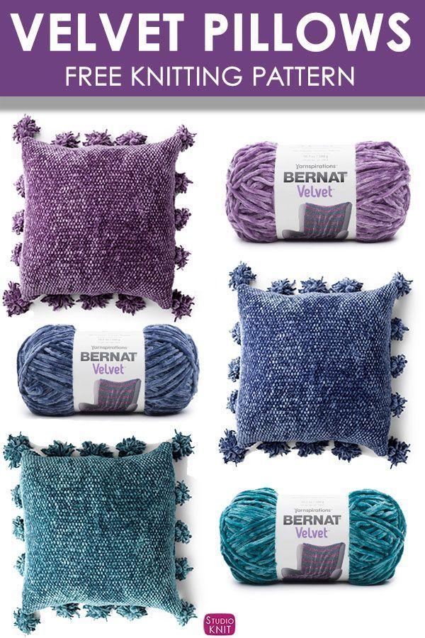 af2af84e343d Knit Along to make this Velvet Knit Pillow Pattern.