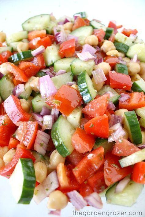 Crisp and refreshing Ultimate Greek Chopped Salad with easy red wine vinegar-oregano dressing (vegan and gluten-free)