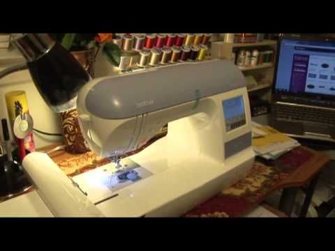Brother PE 770 embroidery machine-Set Up 1 hour
