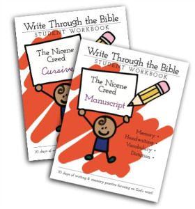 Nicene Creed Handwriting Workbooks