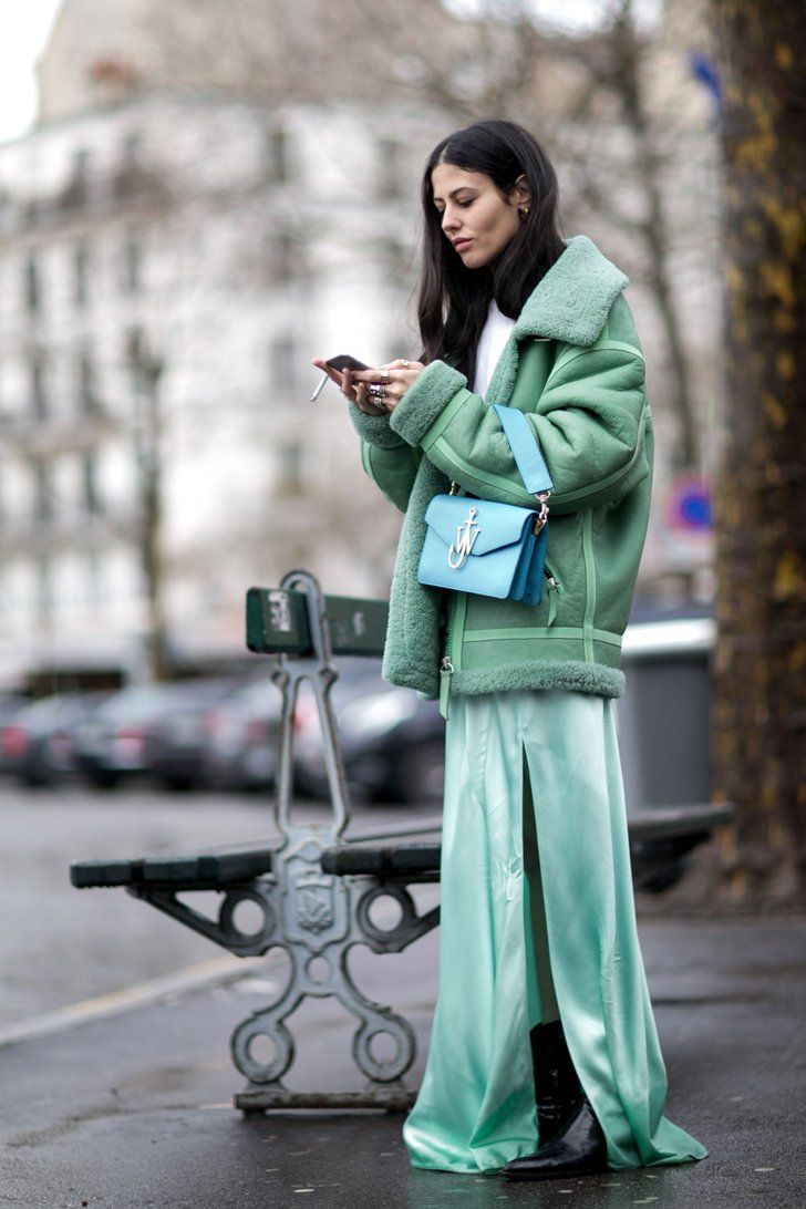 Pin for Later: 50 Styling Lessons to Steal From Fashion Month's Best Dressed Make monochromatic dressing pop.