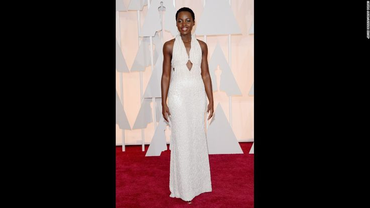 Actress Lupita Nyong'o wore this instantly famous, pearl-laden dress to the 87th Academy Awards Sunday in Hollywood. Click through the gallery for more red-carpet fashion from the Oscars.