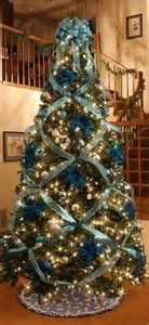 Αποτελέσματα εικόνων για decorating xmas trees with ribbon