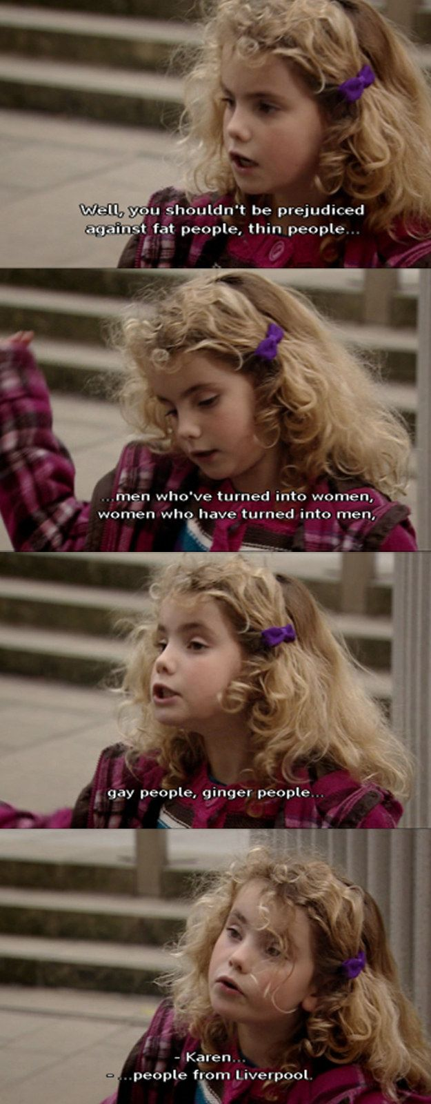 "And demanded that people respect everyone: | 21 Times Karen From ""Outnumbered"" Was The Funniest Kid In Britain"