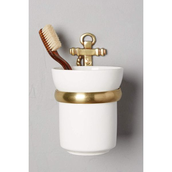 Anthropologie Brass Anchor Bath Container 28 Liked On Polyvore