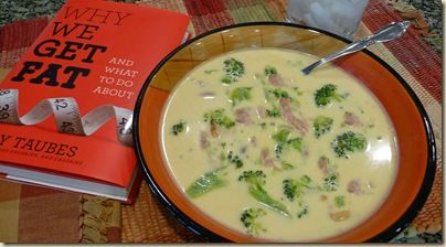 Broccoli-Ham-Cheese-Soup (using ham bone)   [it was too thin of broth for my family, so i will use less water next time  - but DELISH!]