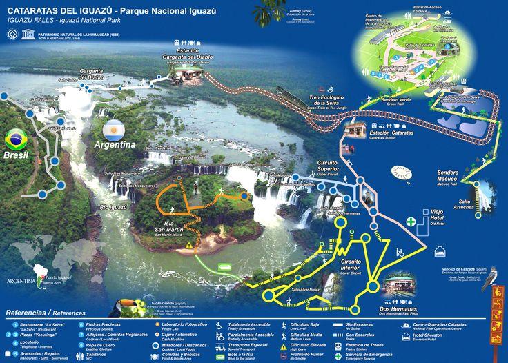 Cataratas del Iguazu-map, Argentina