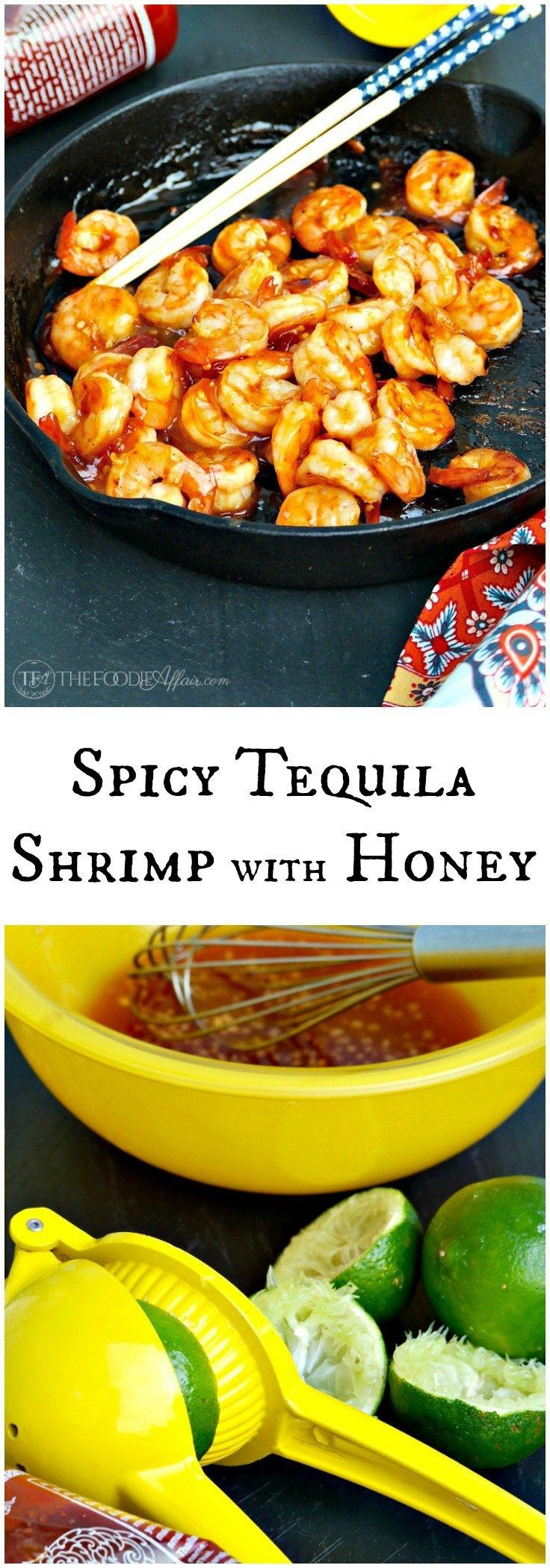 Spicy Tequila Shrimp marinaded in a sweet and spicy ingredients is ...
