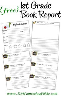 free printable book report forms for first grade book report templates reports and second. Black Bedroom Furniture Sets. Home Design Ideas