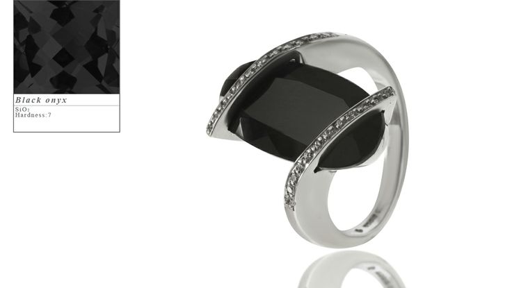 Simon Pure's Radiance ring set with black onyx and diamonds.