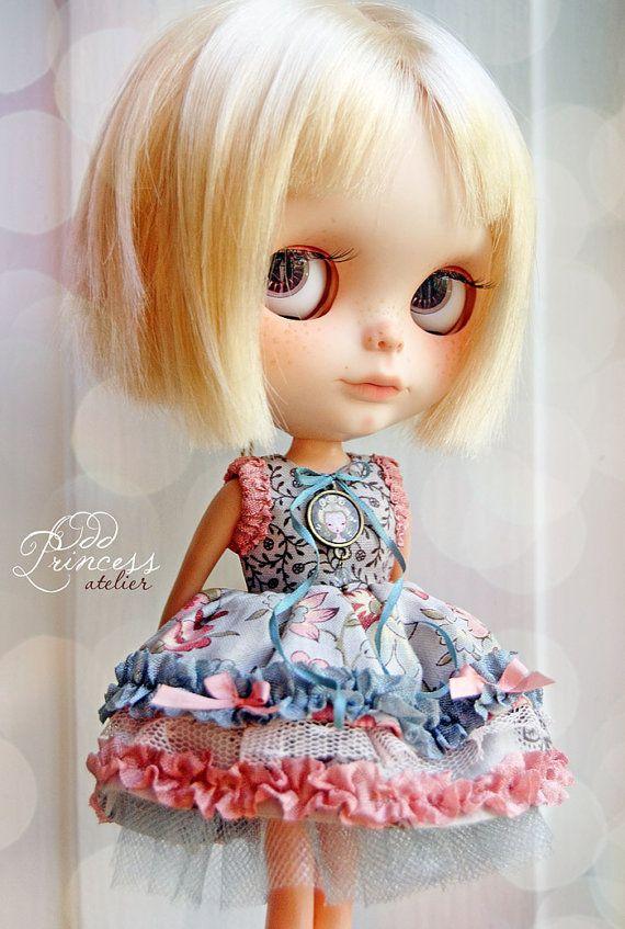 BUTTERFLY PRINCESS Ooak Victorian Blythe Dress By by oddprincess