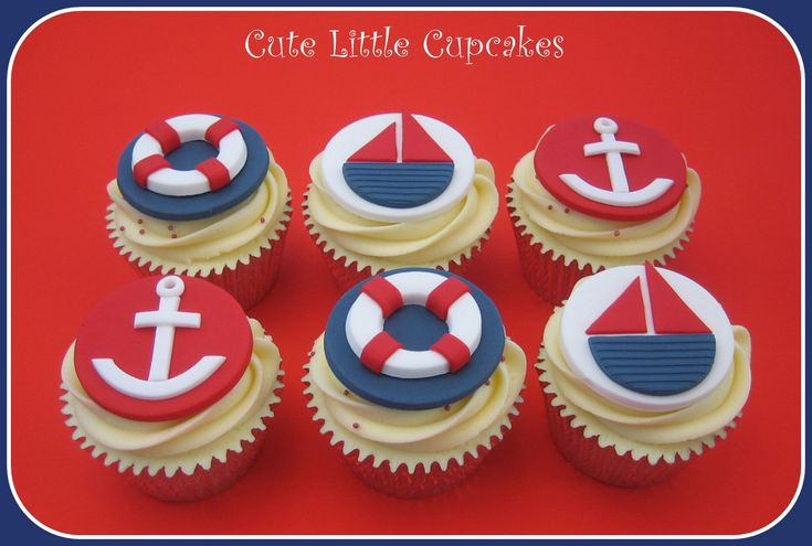 Nautical boat themed cupcakes x