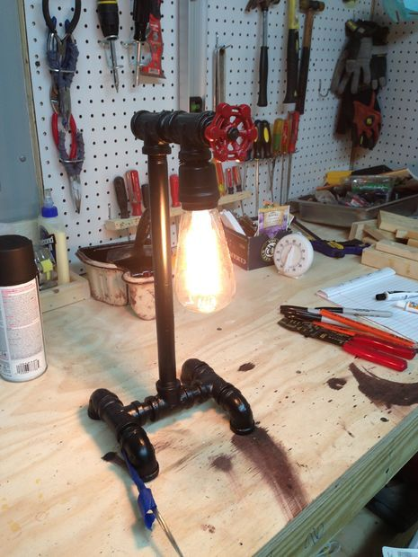 A good how-to for a pipe lamp via instructables.com